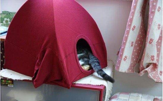 Палатка для кошке своими руками