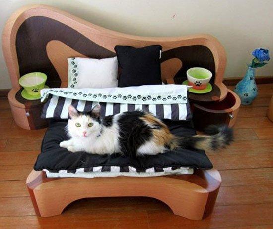 Мягкая лежанка для кота своими руками