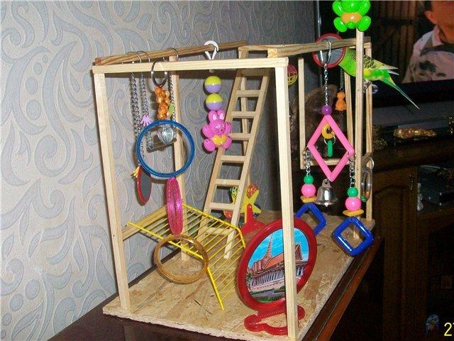 Как сделать клетку для попугая игрушку своими руками